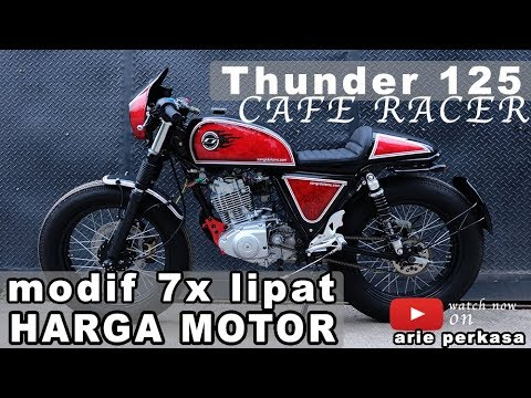 modifikasi thunder 125 caferacer