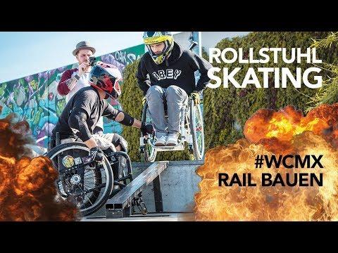 Rail + Rampe für Rollstuhlskate-Meisterschaft bauen *NEU*