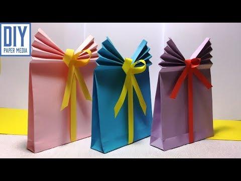 How to make gift bag paper | DIY paper gift bag | origami bag paper crafts
