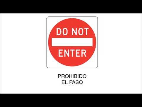 Señales de transito en español - Examen escrito de manejo DMV
