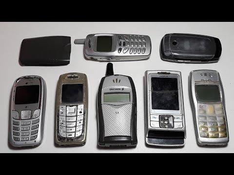 Ретро телефоны Ericsson T20e, Samsung X510, Samsung N620, Nokia 6270, Siemens A65