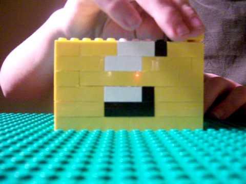 How to build a lego Mario question mark box - YouTube