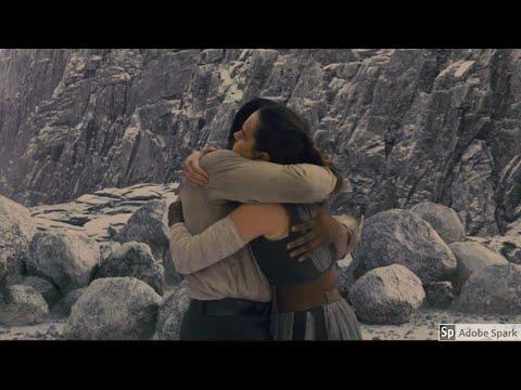 Finn and Rey hug