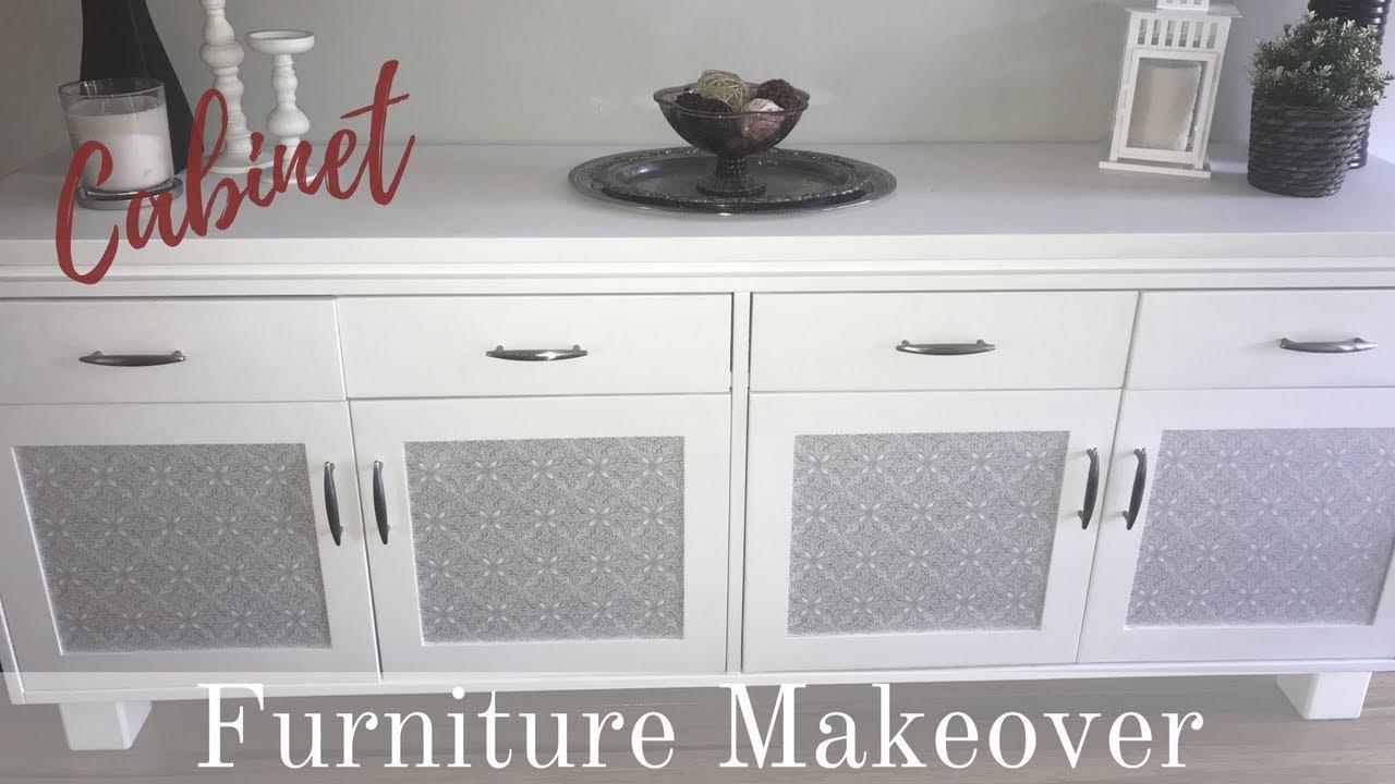 kitchen buffet cabinet wood furniture makeover kitchen buffet cabinet youtube