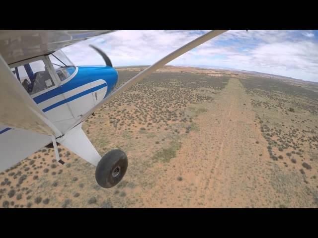 Piper Pacer takeoff Horseshoe Canyon airstrip