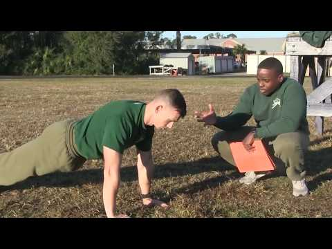 Marine Corps Boot Camp   Initial Strength Test   MCRD Parris Island