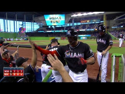 WSH@MIA: Stanton powers a solo homer to left-center