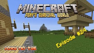 Minecraft Survival - How to build an Automatic Chicken Cooking Machine [24]