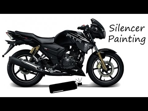 Tvs Apache Silencer Repainting Youtube