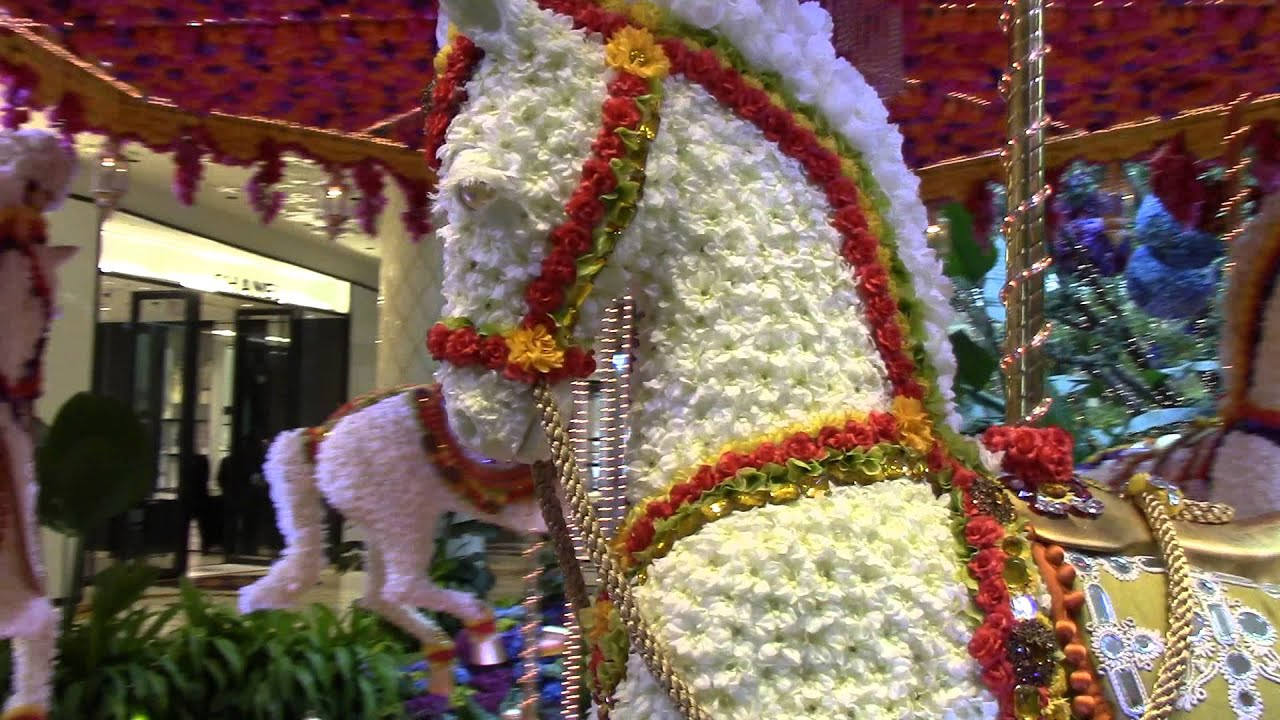 Most Amazing Flower Arrangement Ever Merry Go Round Youtube