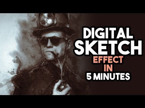 Digital Sketch Effect in Photoshop tutorial