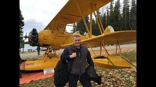 N3N Navy Biplane - Recovery after deadstick landing 2015