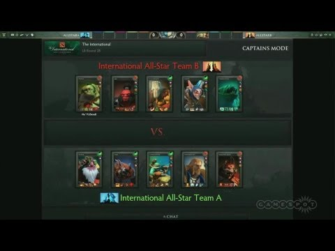 the international dota 2 all star match youtube