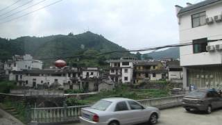 On the way to Hongcun Village 湯口鎮往宏村路途中 day 5 - 44 ( China )