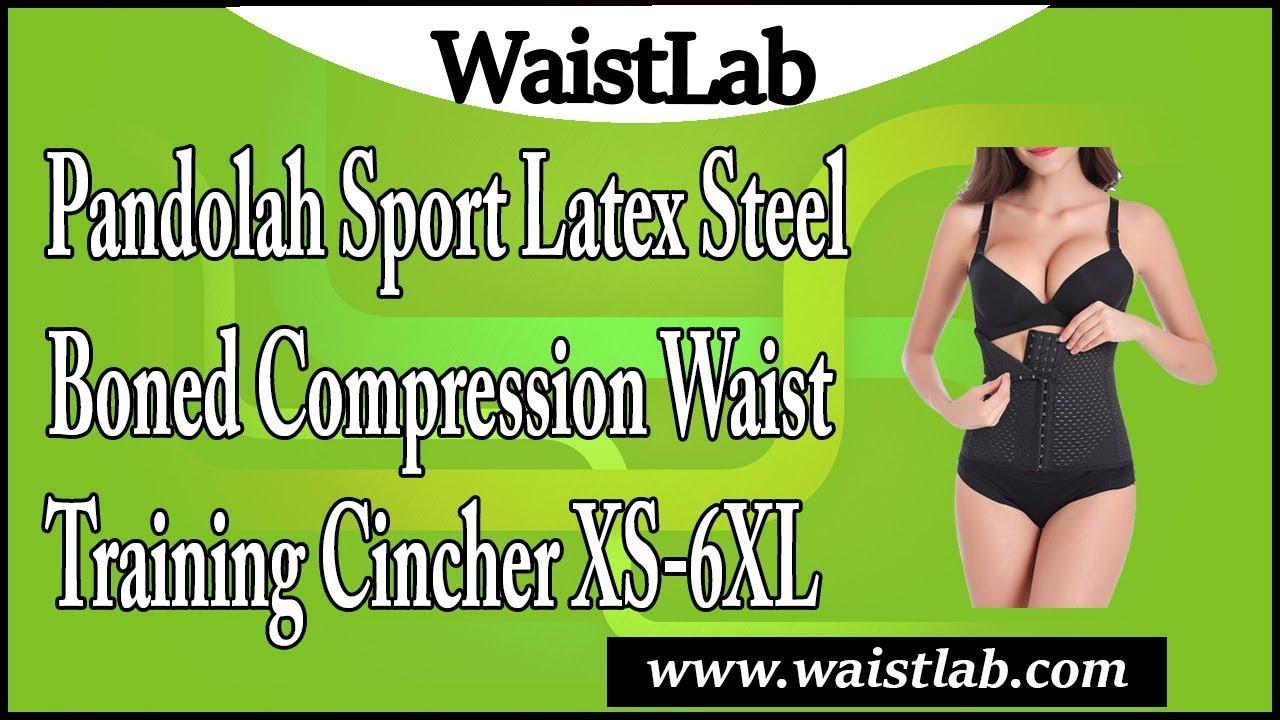 9494d73caa3 Pandolah Sport Latex Steel Boned Compression Waist Training Cincher XS-6XL  Review