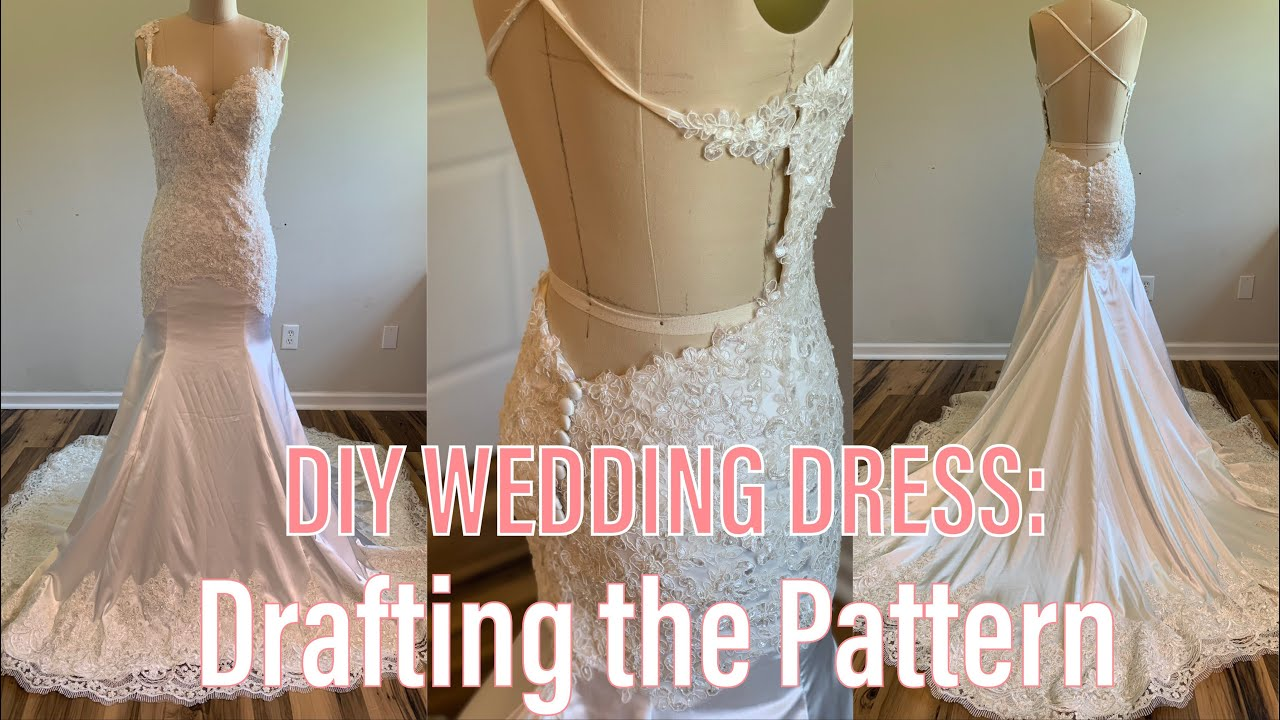 Diy Wedding Dress Lets Make A Wedding Dress With A Low Back 1 Youtube