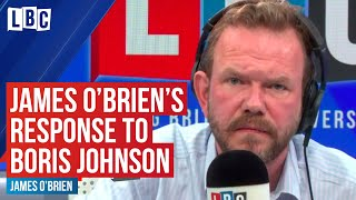 James O'Brien's incredibly powerful response to Boris Johnson defending Dominic Cummings | LBC