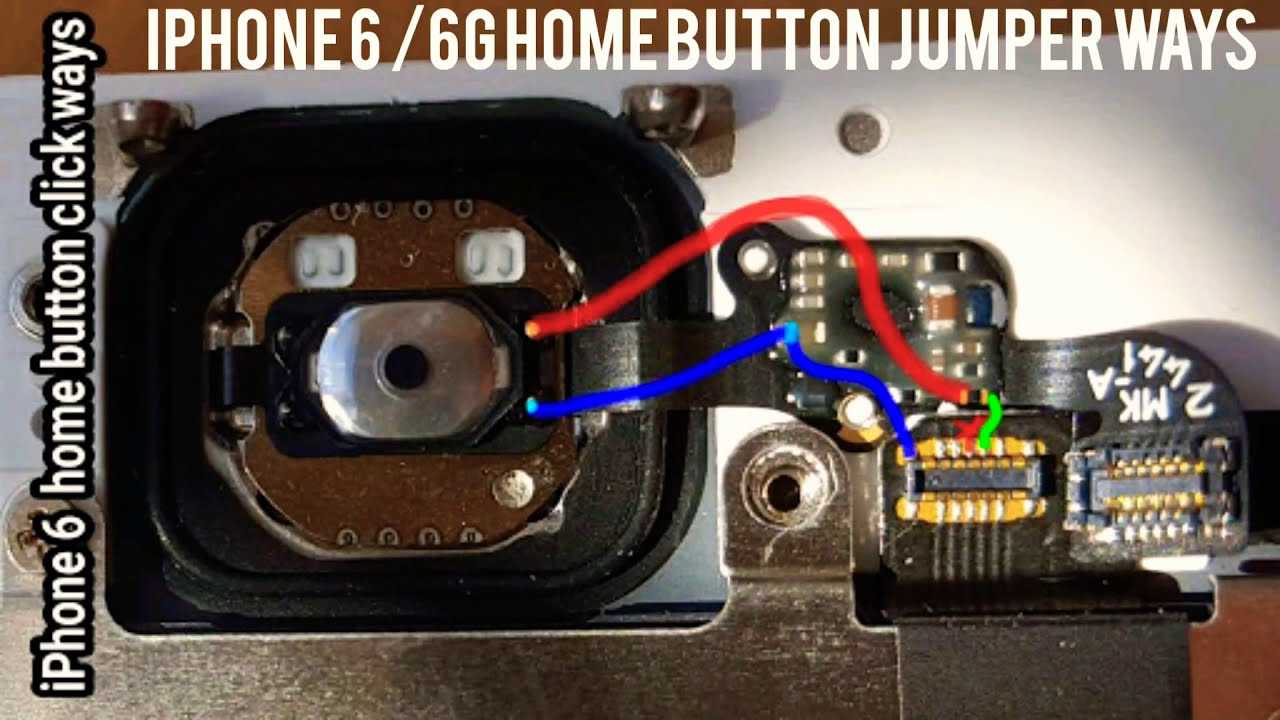 Iphone 6 6g Home Button Repair Jumper Solution Youtube