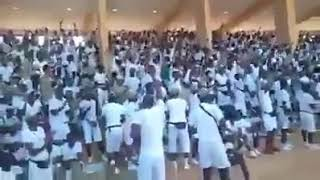 NYSC Corpers jubilating and chanting sai Baba! APC! On receiving news that Buhari increased stipend