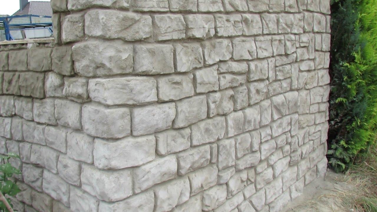 mauer aus beton in steinoptik selber verkleiden . - youtube
