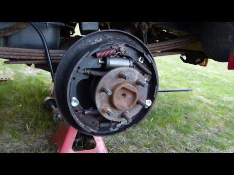 Dodge Dakota Drum Brake Shoe Installation Highlihgts  YouTube