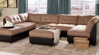 Claude Light Brown Microfiber Sectional Collection From Coaster Furniture