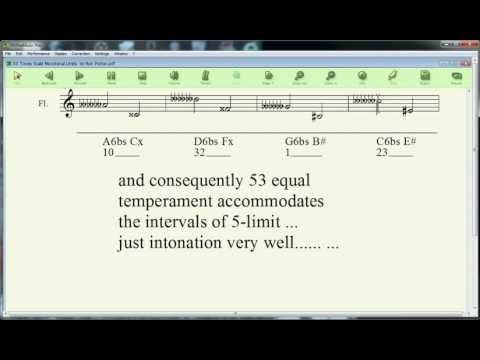 53 Tones Scale Microtonal Circle of 5ths.avi