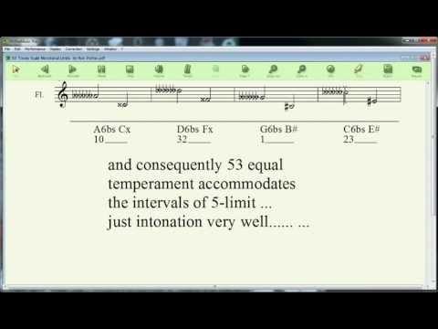 53 Tones Scale Microtonal Circle of 5ths.avi