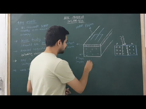 Solar cell |  working |  chapter ; semiconductor devices