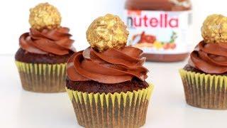 Nutella Lava Cupcakes | Eggless