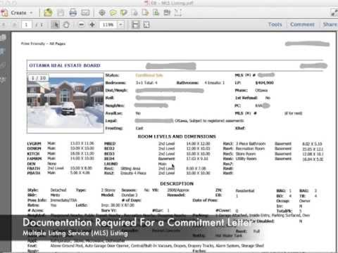 Step 2 - How To Get A Mortgage Commitment Letter In Ontario