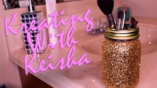 Simple DIY Glitter Mason Jars