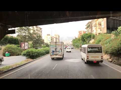 Driving in Beirut, Lebanon