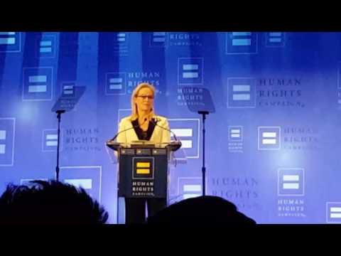 HRC Gala Meryl Streep accepts Ally Award NYC 2017