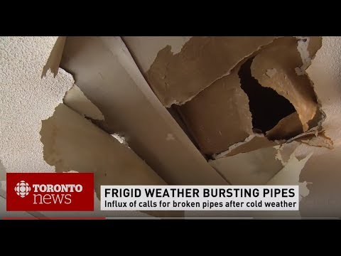 CBC Toronto News Cold Weather Causing Burst Pipe & Water Damage Toronto by GTARestoration.com