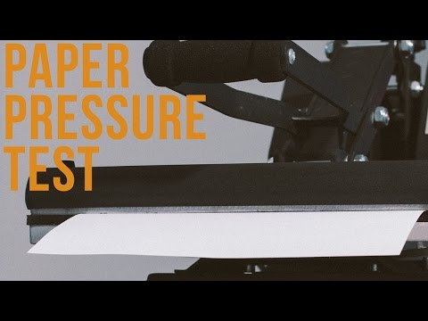 Using The Paper Pressure Test To Fine Tune Pressure on a Clamshell Heat Press