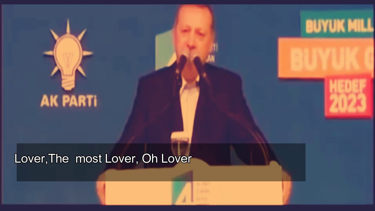 Turkish President Erdogan cried his audince with the poem he read
