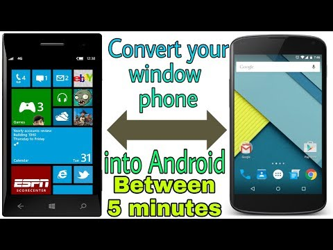 Convert Windows Phone Into Android In Between 5 Minutes.  How To Install Android Os In Windows Phone