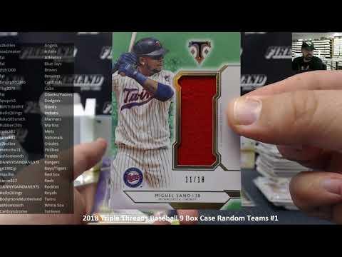 11/7/2018 2018 Triple Threads Baseball 9 Box Case Random Teams #1