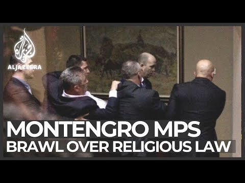 Montenegro adopts law on religion amid protests by pro-Serbs