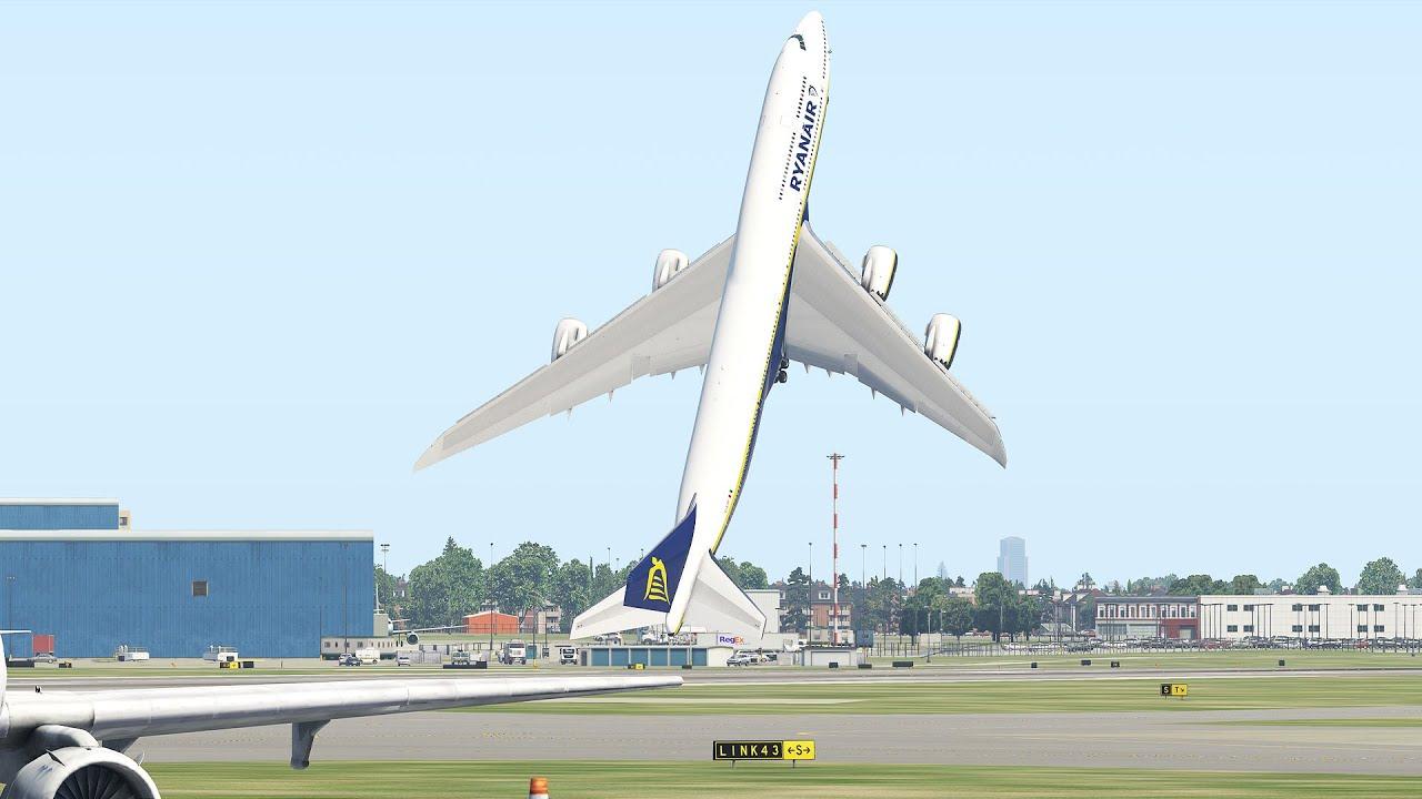 Giant Boeing 747 Ryanair Vertical Take Off | Xplane 11