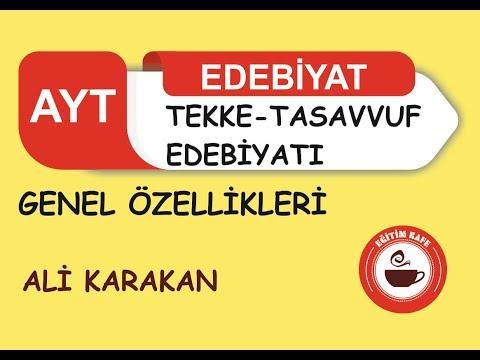 TEKKE - TASAVVUF EDEBİYATI/HALK EDEBİYATI
