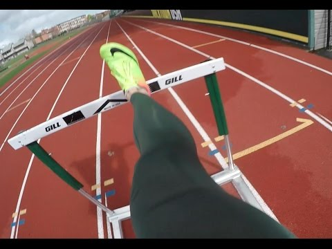 Olympic Hurdler At Practice - YouTube