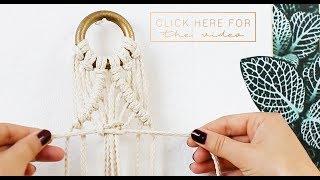 DIY Macrame Plant Hanger for Beginners // Interior Ideas // JO & JUDY