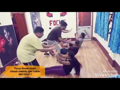 Weight Loss Floor Fitness workout ( Focus fitness studio) Dinesh training