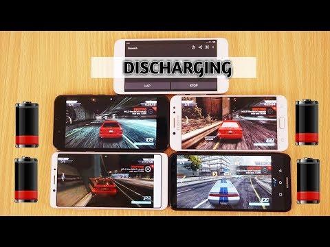 Huawei Mate 10 Lite vs Oppo F5 vs Samsung Galaxy C8 vs Xiaomi Mi A1 Battery Draining Test Urdu/Hindi