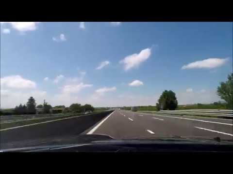 Driving from Rimini Italy to Basel Switzerland - Timelapse Autostrada del Sole A1 and Adriatica A14