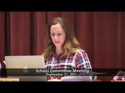 Winthrop School Committee Meeting 9 11 17