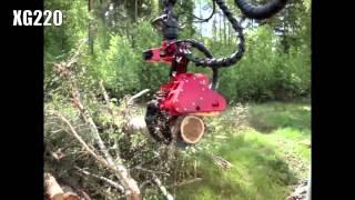 Mecanil XG220 A energy wood felling head(, 2012-12-07T08:18:18.000Z)