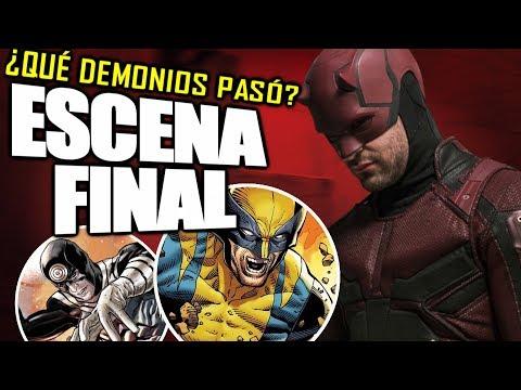 ¡VAYA FINAL! DAREDEVIL ESCENA FINAL'Plan Marvel/Netflix' con sus personajes y de FOX   Explicación
